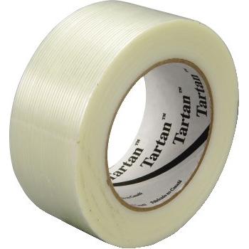 """Tartan™ 8934 Filament Tape, 1"""" x 60 yds, 3"""" Core, 4 Mil, Clear, 36/CT"""