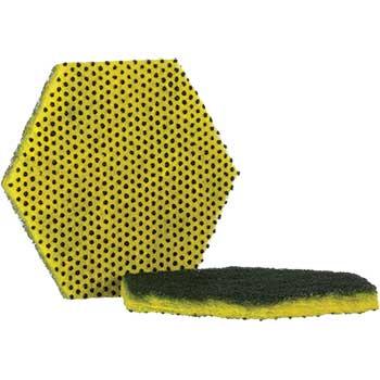 "Scotch-Brite® Dual Purpose Scour Pad, 5"" x 5"", Yellow/Gray, 15/Carton"