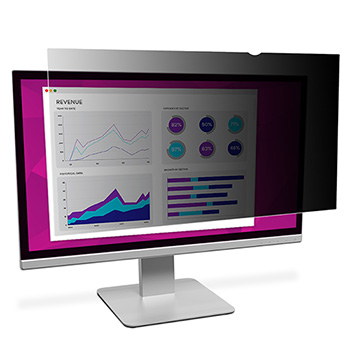 """3M™ High Clarity Privacy Filter for 19.5"""" Widescreen Monitor - Black, Glossy"""