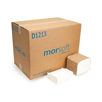 "Morcon Tissue Morsoft® Dispenser Napkins, 1-ply, 11.5"" x 13"", White, 250 Napkins/Pack, 24 Packs/CT"