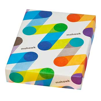 250 PK 8.5 x 11 Card Stock Paper Mohawk BriteHue 65lb Cover LIME GREEN