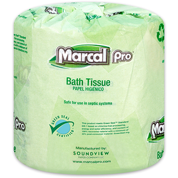 Marcal PRO™ 100% Recycled Bath Tissue, White, 2-Ply, 506 Sheets/RL, 48 Rolls/CT