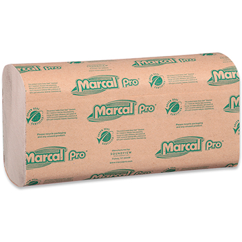 100% Recycled Multi-Fold Paper Towel, Natural, 1-Ply, 9 1/10 x 9 1/2, 250/PK, 16 Packs/CT