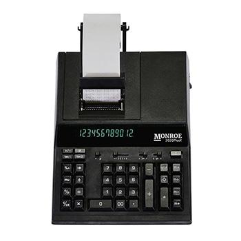 2020PlusX 12-Digit Medium-Duty Accounting Desktop Printing Calculator With Large Display - Black