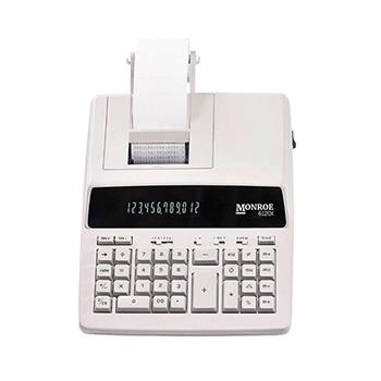Monroe 6120X - 12-Digit Entry Level Accounting Desktop Printing Calculator- Ivory