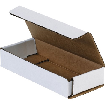 "W.B. Mason Co. Corrugated mailers, 6"" x 2 1/2"" x 1"", White, 50/BD"