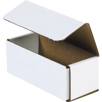 "W.B. Mason Co. Corrugated mailers, 9"" x 6"" x 3"", White, 50/BD"