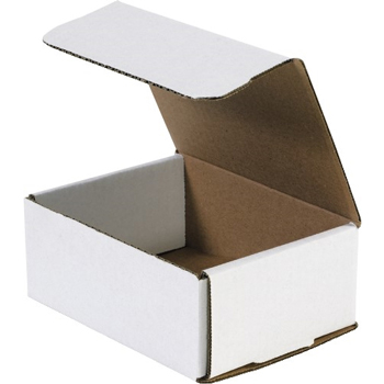 """Corrugated mailers, 6 1/2"""" x 4 7/8"""" x 2 5/8"""", White, 50/BD"""