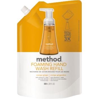 Method® Foaming Hand Wash Refill, 28 oz. Pouch, Orange Ginger