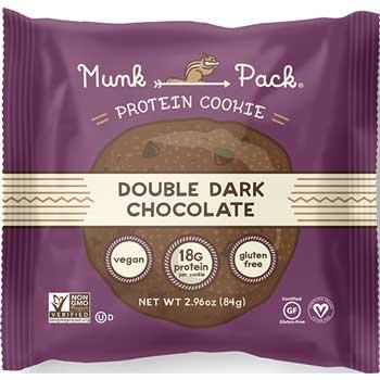 Munk Pack® Protein Cookies, Double Dark Chocolate, 2.96 oz. Pack, 6/BX