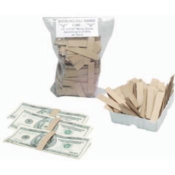 "Money Wrap Company Bill Bands, 1/2"", 1000/PK"