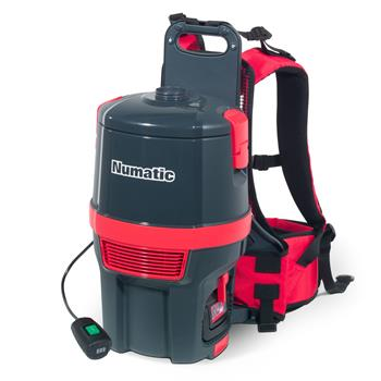 Numatic RBV150NX Battery Backpack Vacuum, Graphite/Red