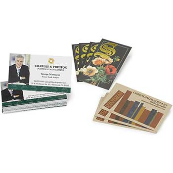 W.B. Mason Co. Custom Business Cards, Full Color Flat, Front Only