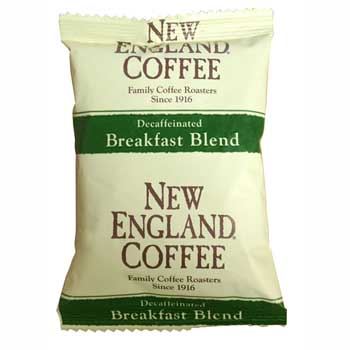 New England® Coffee Pre-measured Coffee Kit, Breakfast Blend Decaf, 2.0 oz., 42/CS