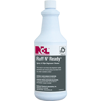National Chemical Laboratories RUFF N' READY Spray and Wipe Degreaser Cleaner, 32 oz