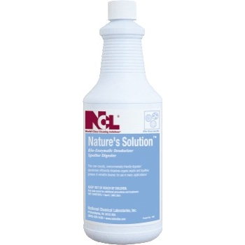 National Chemical Laboratories NATURE'S SOLUTION™ Bio-Enzymatic Deodorizer/Spotter/Digester, 12/CS