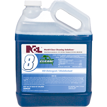 National Chemical Laboratories Ready…Set…CLEAN!® #8 HD Detergent/ Disinfectant, 1 gal., 4/CS
