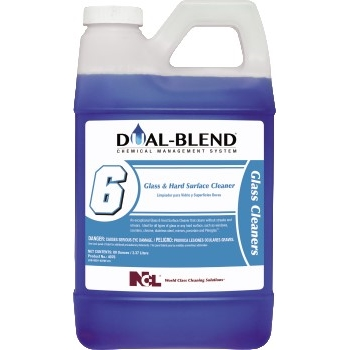 National Chemical Laboratories Dual Blend #6, Glass and Hard Surface Cleaner, Unscented, 80 oz., 4/CS