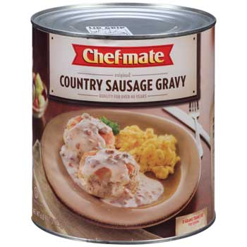 Chef-mate® Country Sausage Gravy, 6.5625 lb. Cans, 6/CS