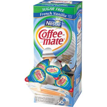 Coffee mate® French Vanilla Sugar Free Liquid Coffee Creamer, 0.38 oz. Single-Serve Cups, 50/BX