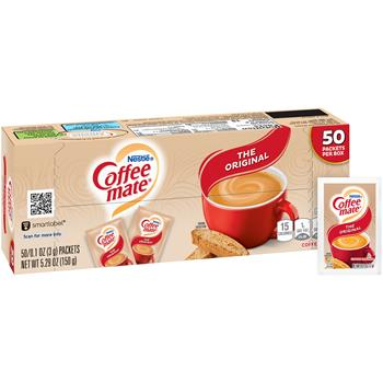 Coffee mate® Original Powdered Coffee Creamer, 3g Packets, 50/BX