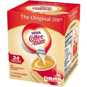 Single-Serve Non-Dairy Liquid Creamer, Original, .375 oz., 24/BX