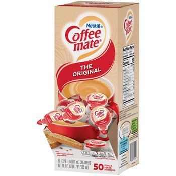 Coffee mate® Original Liquid Coffee Creamer, 0.38 oz. Single-Serve Cups, 50/BX