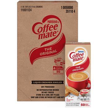 Coffee mate® Original Liquid Coffee Creamer, 0.38 oz. Single-Serve Cups, 200/CT