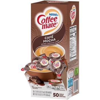Coffee mate® Café Mocha Liquid Coffee Creamer, 0.38 oz. Single-Serve Cups, 50/BX