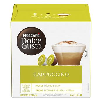 Dolce Gusto® Cappuccino Coffee Capsules, 16/BX