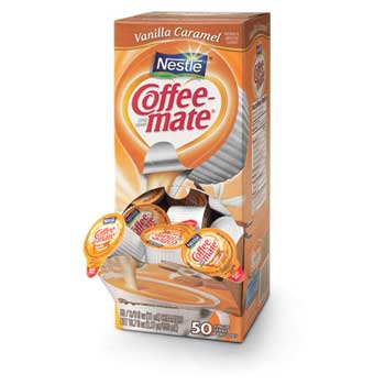 Coffee mate® Vanilla Caramel Liquid Coffee Creamer, 0.38 oz. Single-Serve Cups, 50/BX
