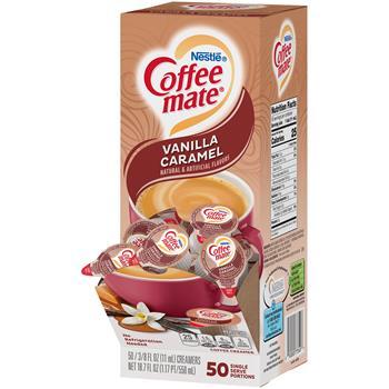 Coffee mate® Vanilla Caramel Liquid Coffee Creamer, 0.38 oz. Single-Serve Cups, 50/BX