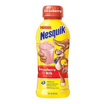 Nesquik® Strawberry Milk, Low Fat, 14 oz. Bottle, 12/CS