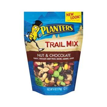 Planters® Nut & Chocolate Trail Mix, 6 oz. Bags, 12/CS