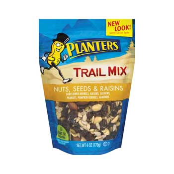 Nuts, Seeds, Cranberries Trail Mix, 6 Oz. Bags, 12/CS