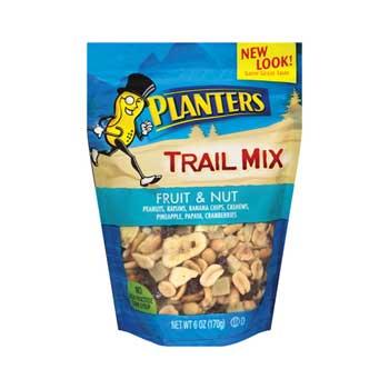 Planters® Fruit & Nut Trail Mix, 6 oz. Bags, 12/CS