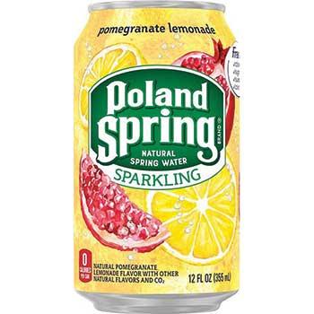 Sparkling Natural Spring Water, Pomegranate Lemonade, 12 oz., 24/CT