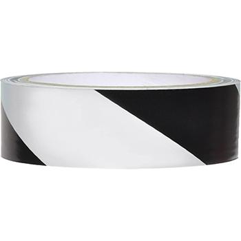 "NMC™ Vinyl Safety Tape, Hazard Stripe, Black/White, 2"" x 108'"