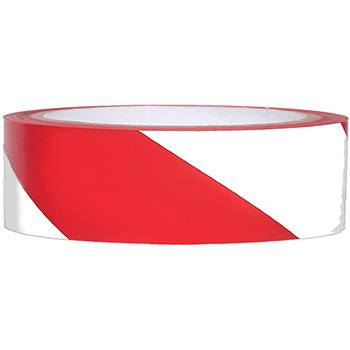"""NMC™ Vinyl Safety Tape, Hazard Stripe, Red/White, 2"""" x 108'"""