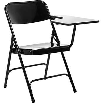 National Public Seating 5200 Series Tablet Arm Folding Chair, Left Arm, Black, 2/PK