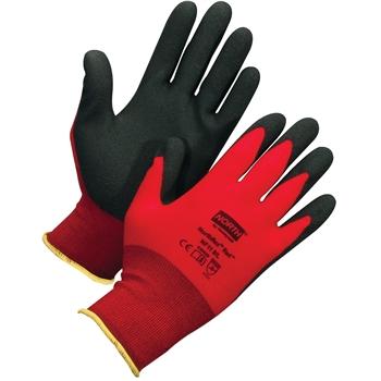 NorthFlex Red™, Nylon Liner, PVC Palm Coating, Red/Black, Size 10XL