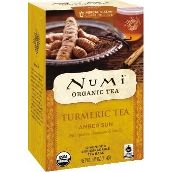 Numi® Organic Tea & Teasans, Turmeric Tea, Amber Sun, 1.42 oz, 12/BX