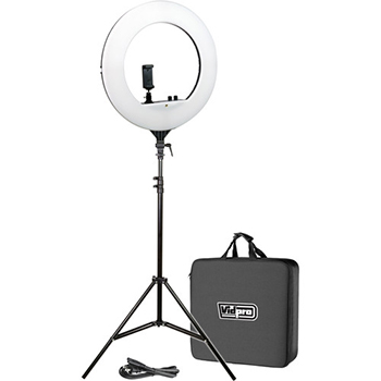 LED 18'' Ring Light Kit with Stand and Carrying Case