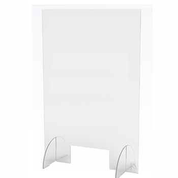 """J.M.C Furniture Counter Top Acrylic Shield, Clear, 24"""" x 36"""", 10""""W x 4""""H Opening"""