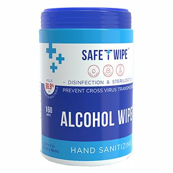 "Alcohol Wipes, 5.5"" x 7.9"", 160 Wipes"