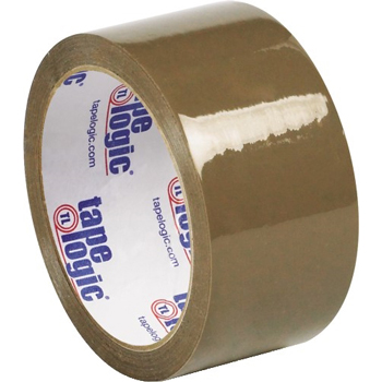 "Tape Logic® Natural Rubber Tape, 2.1 Mil, 2"" x 55 yds., Tan, 36/CS"