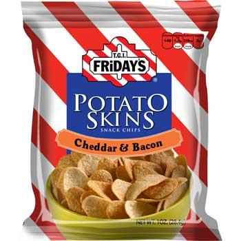 T.G.I. FRIDAY'S™ Cheddar & Bacon Potato Skins, 1oz. Bag, 72/CS