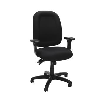 OFM™ Ergonomic Mid-Back Task Chair with Arms, Black