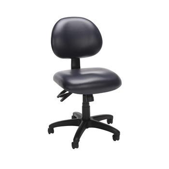 OFM™ 24 Hour Ergonomic Mid-Back Armless Task Chair, Navy