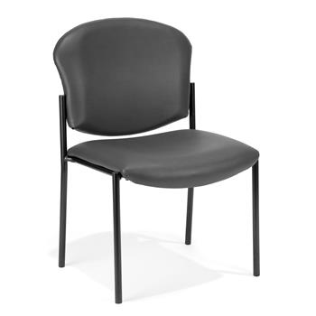 OFM™ Manor Series Armless Guest and Reception Chair, Charcoal